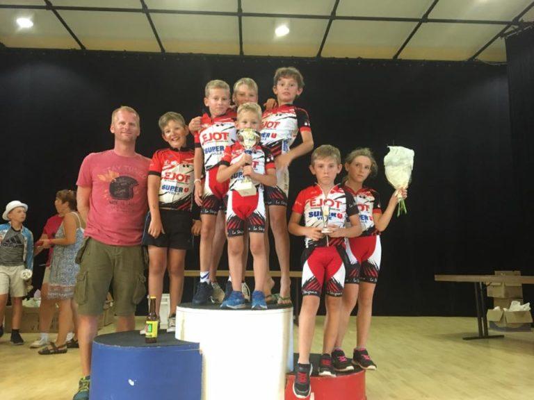 Nos jeunes ramènent une 4e place par équipe au Road Tour.